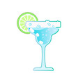 cocktail and lemon vector image