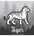 Double exposure White Tiger in forest poster vector image