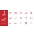15 economy icons vector image vector image