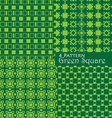 4 pattern green square vector image vector image