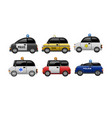 a set of public service electric minicars vector image