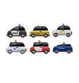 a set public service electric minicars vector image vector image