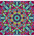 Abstract Colorful Digital Decorative Flower Star vector image vector image