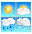 abstract day weather image set vector image vector image