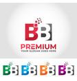 bb alphabet logo design concept