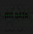 big data hexagonal background vector image vector image