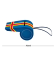 Blue Color of An Aland Flag Whistle vector image vector image