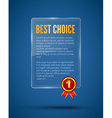 Blue Glass panel banner vector image