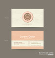 business card for gift shop coffee or bakery shop vector image vector image