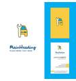 car garage creative logo and business card vector image vector image