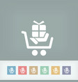 cart store icon vector image