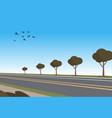 cartoon automobile highway vector image vector image