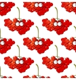Cartoon red berry seamless pattern vector image