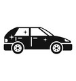 clean car icon simple style vector image vector image