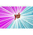 comic versus rivalry template vector image vector image