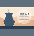 commercial sea shipping flyer template vector image vector image