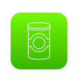 cosmetic jar plastic icon green vector image vector image