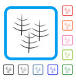 dead forest framed icon vector image