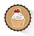 delicious cupcake design vector image vector image