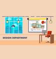design department interior vector image vector image