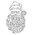 doodles merry christmas lettering vector image vector image