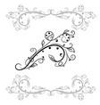 floral branch decorative filigree element vector image vector image