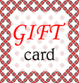 Frame gift card vector image
