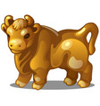 golden figure cow chinese horoscope symbol vector image