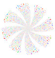hand fireworks swirl rotation vector image vector image