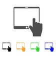 hand points mobile tablet icon vector image vector image