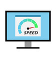 high speed internet computer test vector image