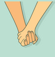 holding hands promise sign vector image vector image