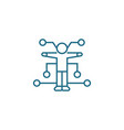 hr recruiting management linear icon concept hr vector image