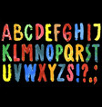 image colorful watercolor letters alphabet vector image