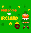 irish concept background perfect for st patrick vector image
