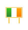 irish flag on billboart vector image vector image