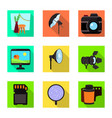 isolated object photoshoot and work logo vector image vector image