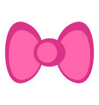 isolated pink bowtie icon vector image