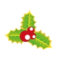 leafs decoration christmas icon vector image