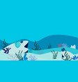 ocean underwater background vector image