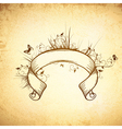 Old Decorated Ribbon Scroll vector image vector image