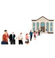 people queue at bank vector image