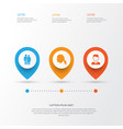 person icons set collection of beloveds vector image vector image