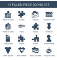 piece icons vector image vector image
