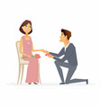 proposal - cartoon people characters isolated vector image vector image