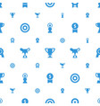 reward icons pattern seamless white background vector image vector image