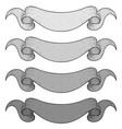 ribbon banners gray set scrolls hand drawn vector image vector image