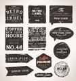 Rustic Label Set vector image