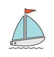 sailboat color icon vector image