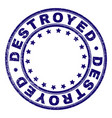 scratched textured destroyed round stamp seal vector image